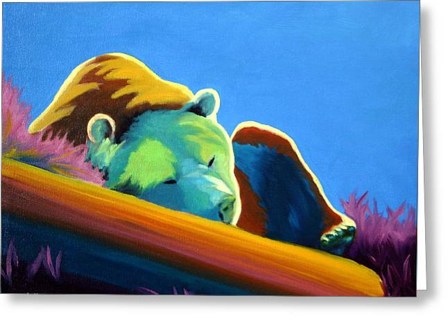 Greeting Card featuring the painting Siesta Time by Nancy Jolley