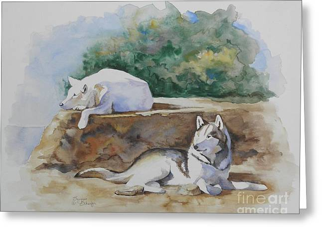 Siesta Time Greeting Card by Suzanne Schaefer