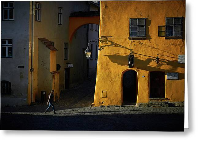 Sighisoara Greeting Card by Cristian Lee