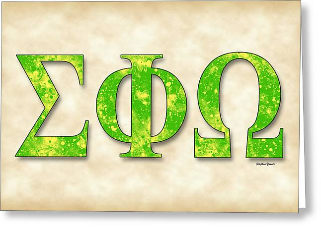 Sigma Phi Omega - Parchment Greeting Card