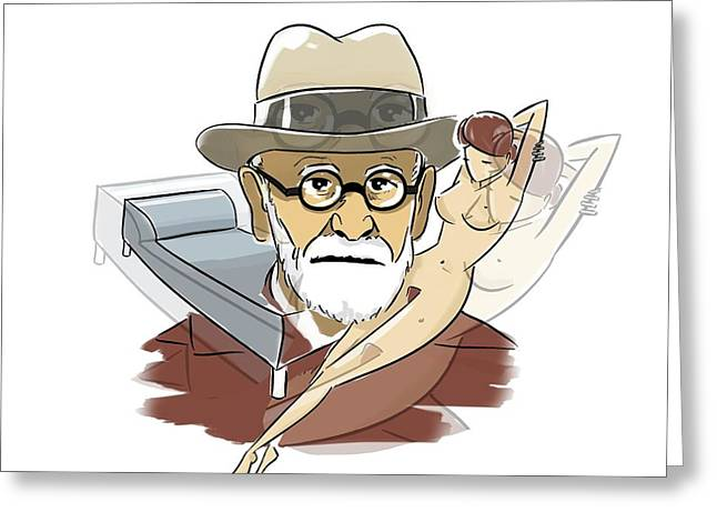 Sigmund Freud Greeting Card by Harald Ritsch