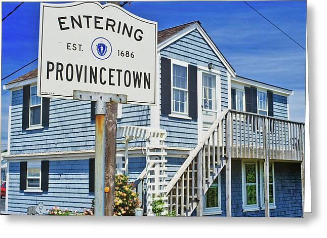Sign For Provincetown, Massachusetts Greeting Card
