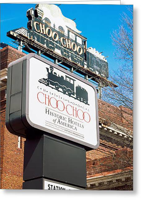 Sign Of A Hotel, Chattanooga Choo Choo Greeting Card