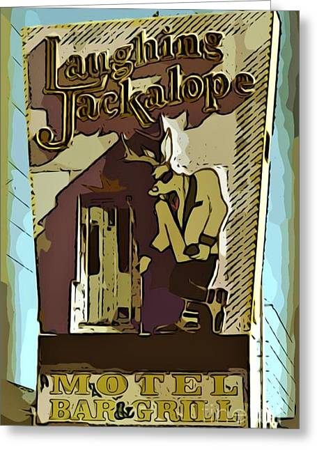 Sign Of The Jackalope Greeting Card by John Malone