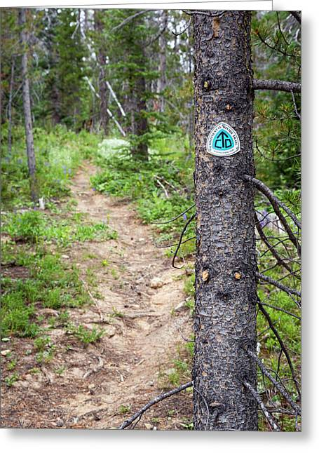 Sign On Continental Divide Trail Greeting Card by Jim West