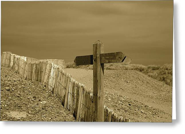 Sign Post To Nowhere 2 Greeting Card by Christopher Rowlands