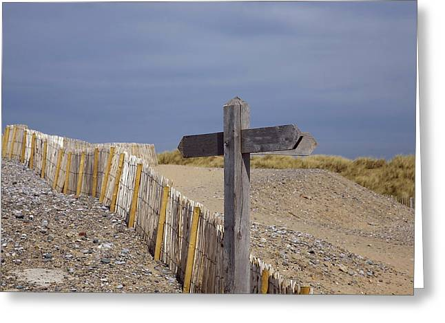 Sign Post To Nowhere Greeting Card by Christopher Rowlands