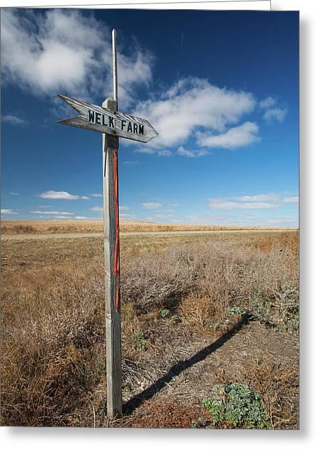 Sign To The Welk Farm, Strasburg Greeting Card