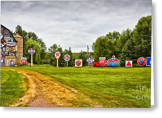 Greeting Card featuring the photograph Signage Barn by Ricky L Jones