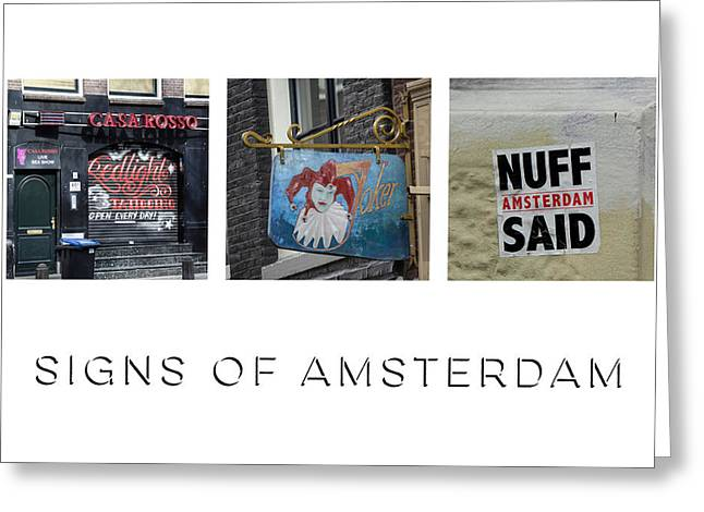 Signs Of Amsterdam Greeting Card