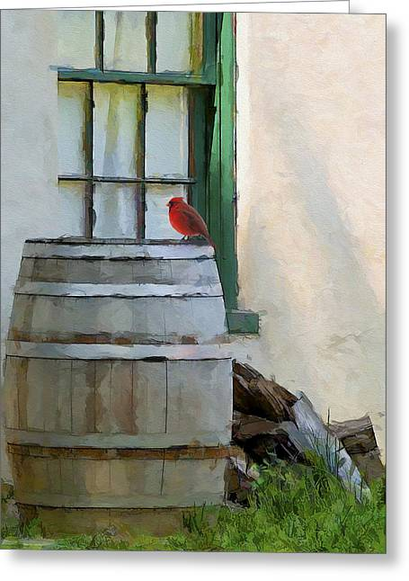 Signs Of Spring Greeting Card by Ron Jones