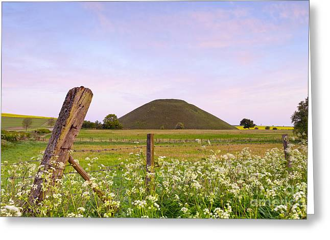 Silbury Hill Wiltshire Early Morning  Greeting Card by Colin and Linda McKie