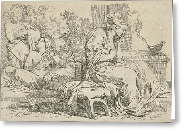 Silence And Talkativeness, Gerard De Lairesse Greeting Card