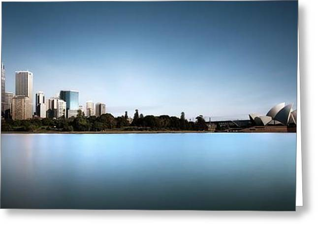 Silence Of Ms. Macquarie's Skyline Greeting Card by Dr. Akira Takaue