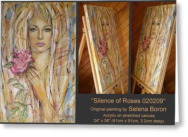 Silence Of Roses 020209 Greeting Card by Selena Boron