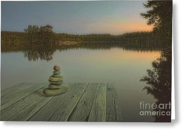 Multicolored Digital Greeting Cards - Silence of the wilderness Greeting Card by Veikko Suikkanen