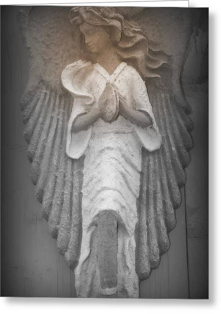 Silent Angel Greeting Card by Kathy Peltomaa Lewis