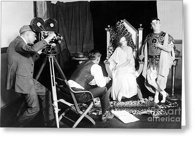 Silent Film Production, 1922 Greeting Card by Library Of Congress