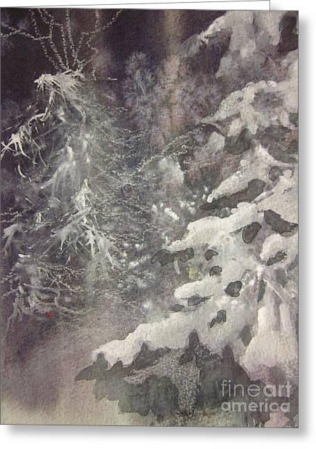 Silent Night Greeting Card by Elizabeth Carr