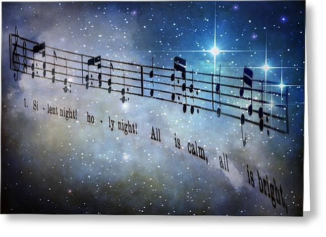Silent Night Holy Night Greeting Card by David and Carol Kelly