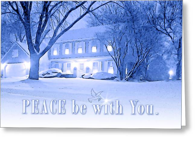 Peace Be With You.  Greeting Card