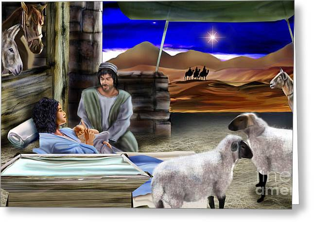 Silent Night Greeting Card by Reggie Duffie