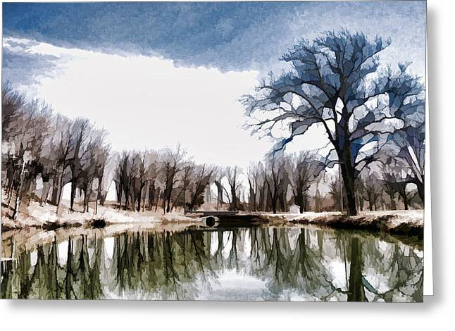 Silent Shadows Greeting Card by Tom Druin