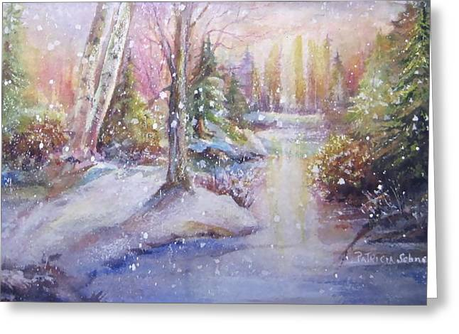 Silent Snowfall Greeting Card