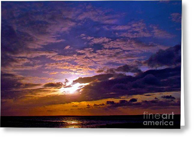 Silent Stride Of Earth Greeting Card by Q's House of Art ArtandFinePhotography