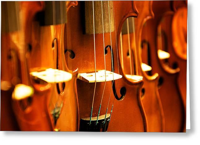 Silent Violins Greeting Card by Maurizio Incurvati