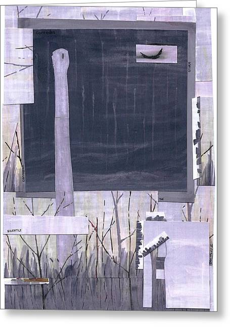Silently The Storm Corrodes Greeting Card by Dan Haley