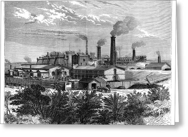 Silesian Mines And Industry Greeting Card