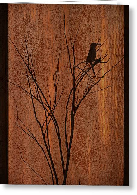 Silhouette Greeting Card by Barbara Manis