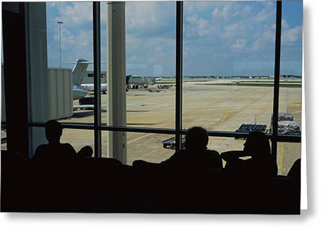 Silhouette Of A Group Of People At An Greeting Card by Panoramic Images