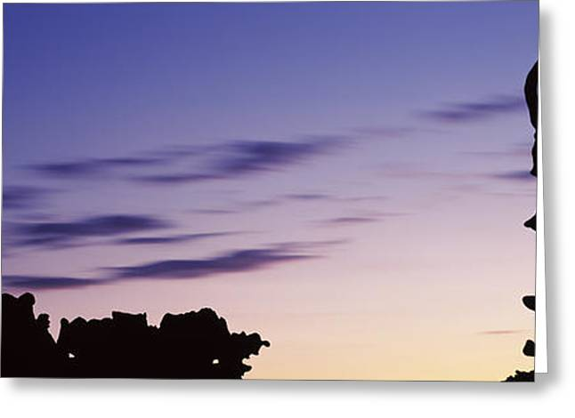 Silhouette Of Rock Formations, Teapot Greeting Card