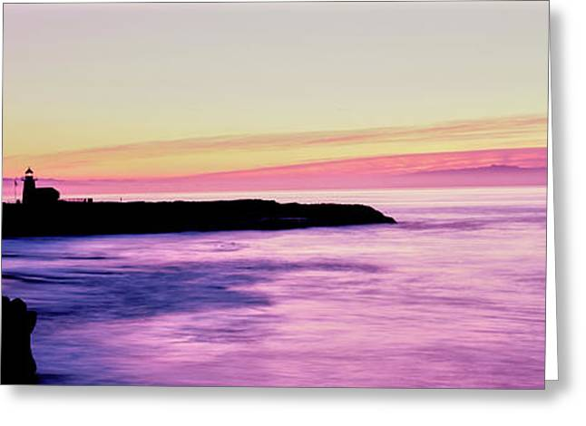 Silhouette Of The Santa Cruz Lighthouse Greeting Card by Panoramic Images
