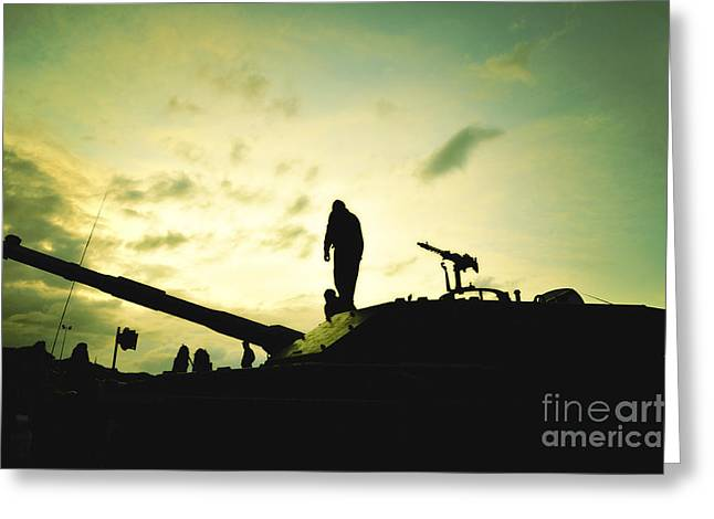 Silhouette Of War  Greeting Card by Stefano Senise