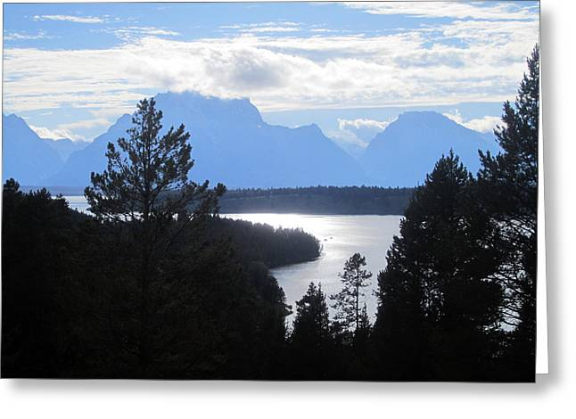 Silhouette Peaks Greeting Card by Mike Podhorzer