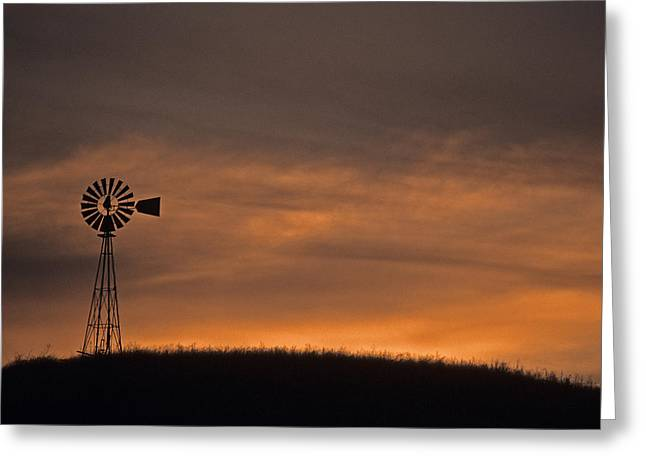 Silhouette Windmill Greeting Card