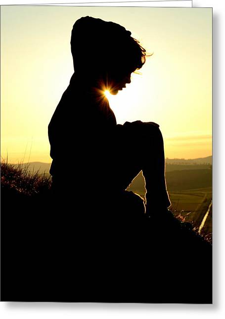 Silhouetted Child Greeting Card