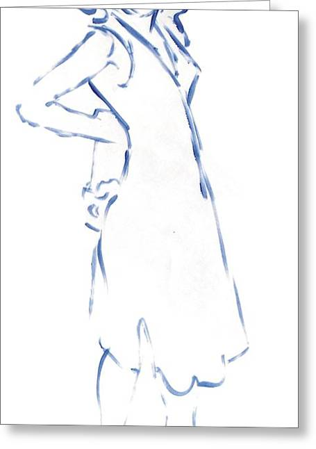 Silhouetted Woman Standing Greeting Card