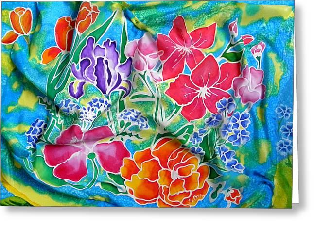 Silk Summer Bouquet Greeting Card