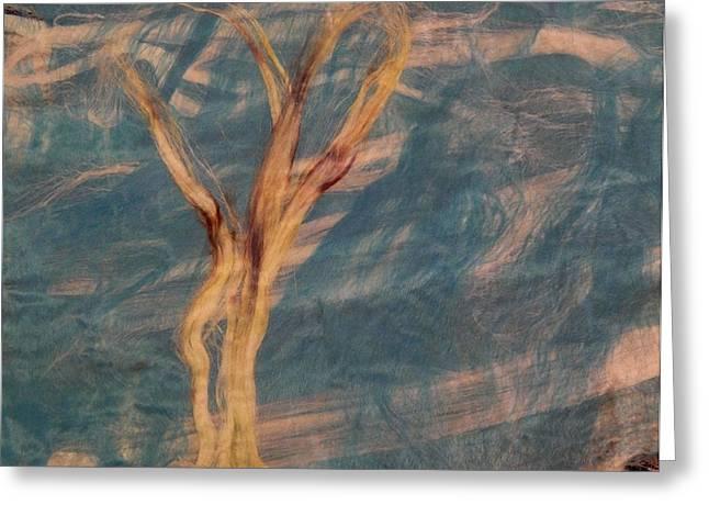 Greeting Card featuring the digital art Silk Trees by Aliceann Carlton