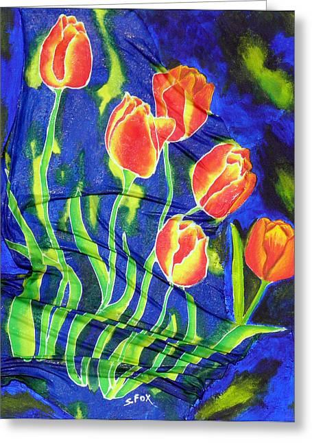 Silk Tulips Greeting Card