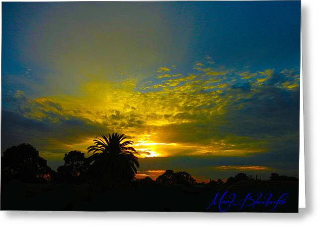 Silken Sunset Greeting Card by Mark Blauhoefer