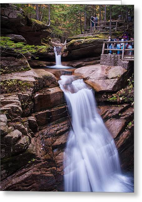 Silky Sabbaday Falls Greeting Card by Karen Stephenson