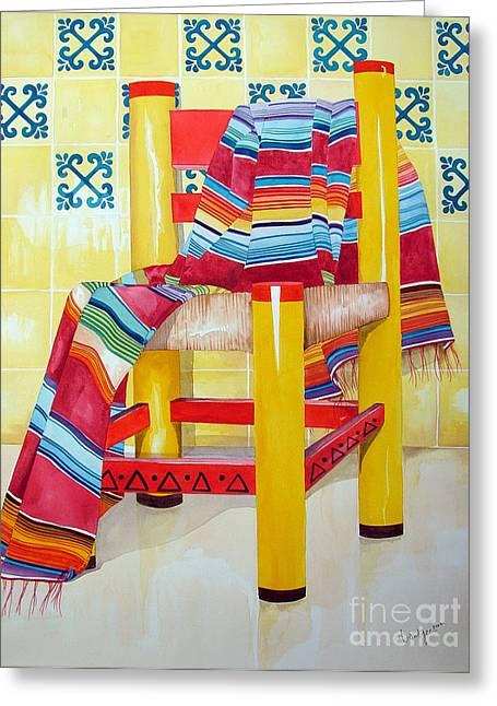 Silla De La Cocina--kitchen Chair Greeting Card
