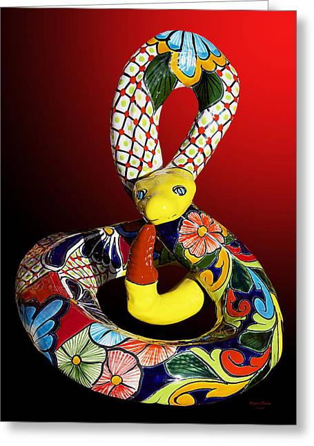 Silly Snake Greeting Card by Phyllis Denton