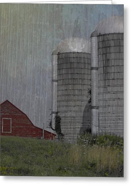 Silo And Barn Greeting Card by Photographic Arts And Design Studio