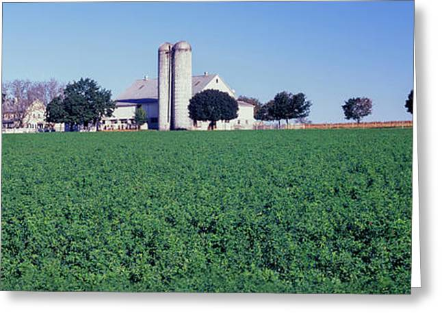 Silo In A Farm, Amish Country, Holmes Greeting Card by Panoramic Images